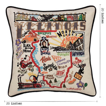 Load image into Gallery viewer, Illinois Hand-Embroidered Pillow - catstudio