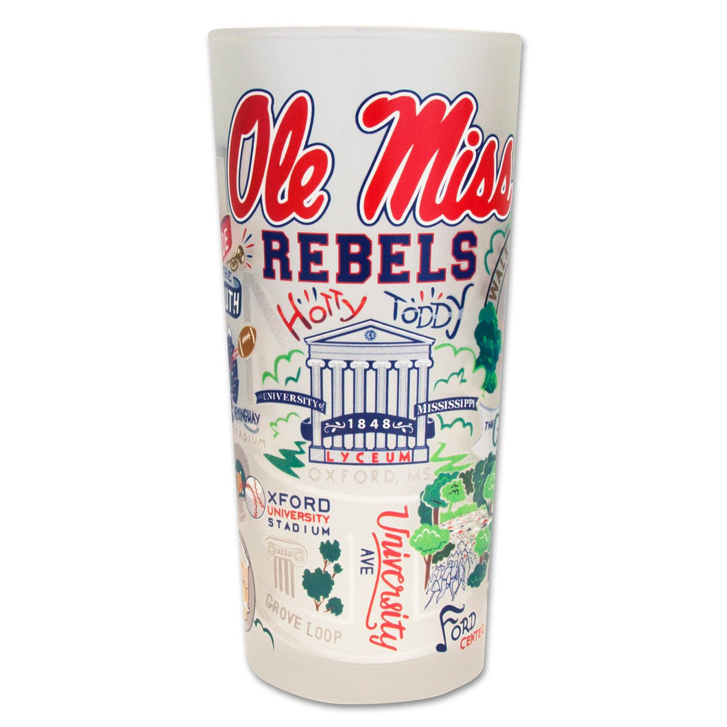 Mississippi, University of (Ole Miss) Collegiate Drinking Glass Glass catstudio