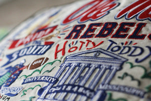 Mississippi, University of (Ole Miss) Collegiate Embroidered Pillow Pillow catstudio