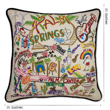 Load image into Gallery viewer, Palm Springs Hand-Embroidered Pillow Pillow catstudio