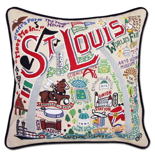 St. Louis Hand-Embroidered Pillow Pillow catstudio
