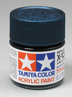 Tamiya 81013 Acrylic Paint 23ml X-13 Gloss, Metal Blue