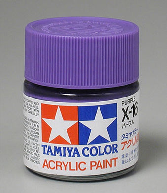 Tamiya 81016 Acrylic Paint 23ml X-16 Gloss, Purple