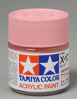 Tamiya 81017 Acrylic Paint 23ml X-17 Gloss, Pink