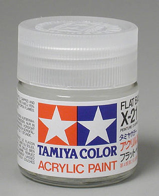 Tamiya 81021 Acrylic Paint 23ml X-21 Flat Base