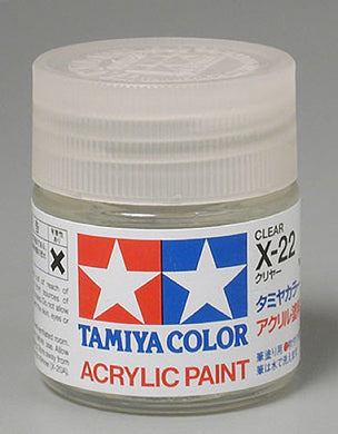 Tamiya 81022 Acrylic Paint 23ml X-22 Gloss, Clear