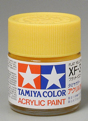 Tamiya 81303 Acrylic Paint 23ml XF-3 Flat, Yellow