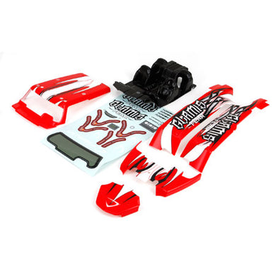 Vaterra VTR240010 Red & White Pre-Painted Body Set with Decals: 1/8 Glamis Fear