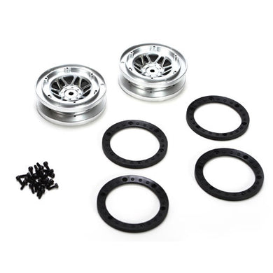 Vaterra VTR43000 Beadlock Wheels with Rings (2): 1/10 Twin Hammers