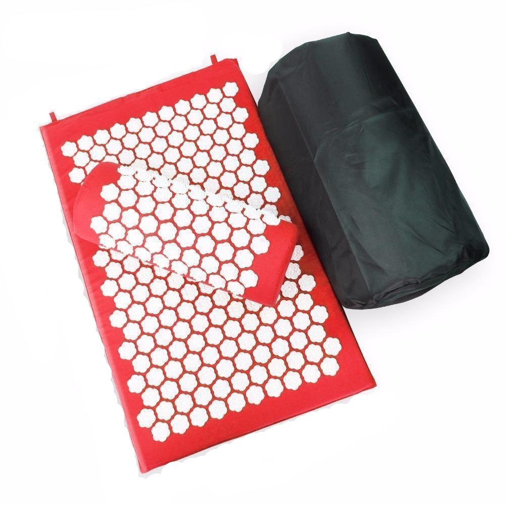 Tapis d'acupression rouge Soroyee contre le mal de dos, anti-stress red acupressure mat
