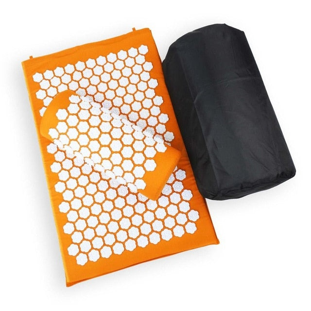 Tapis d'acupression orange Soroyee contre le mal de dos, anti-stress orange acupressure mat