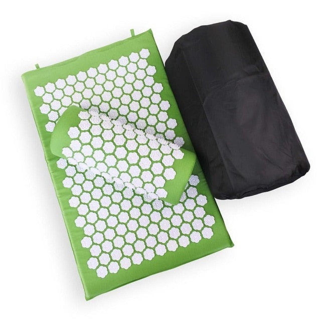 Tapis d'acupression vert clair Soroyee contre le mal de dos, anti-stress green acupressure mat