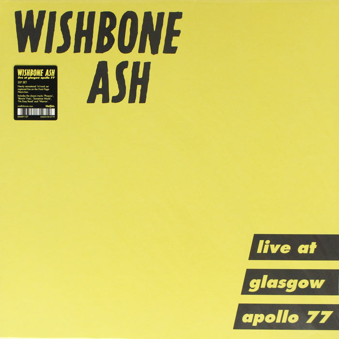 Wishbone Ash ‎– Live at Glasgow Apollo 77 2LP Vinyl Record, Vinyl, X-Records
