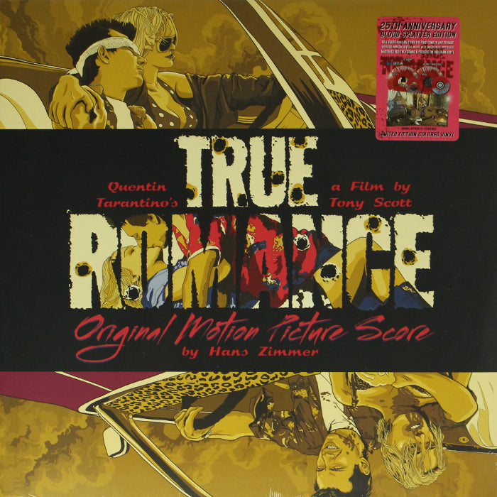 "Hans Zimmer ‎– True Romance 2LP Soundtrack Blood Splatter Colour Vinyl Record + 7"", Vinyl, X-Records"