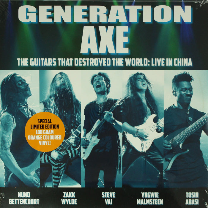 Generation Axe - The Guitars That Destroyed The World 2LP Orange Colour Vinyl Record, Vinyl, X-Records