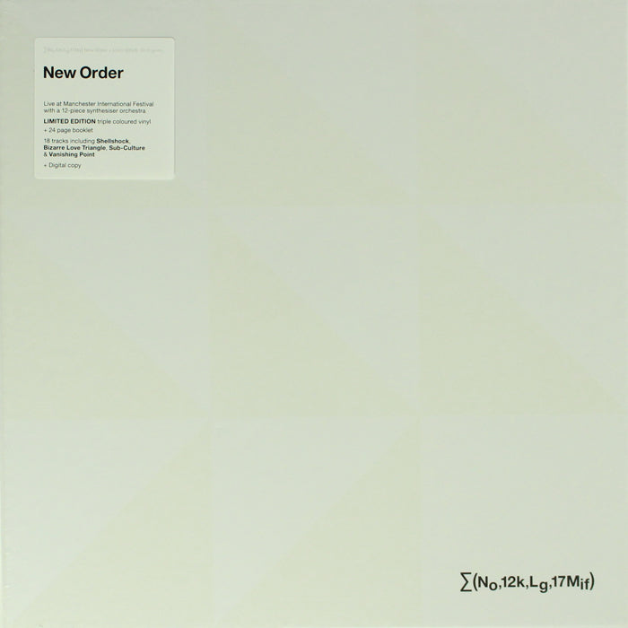 New Order - ∑ (No,12k,Lg,17Mif) + Liam Gillick So it goes.. 3LP Colour Vinyl Record Boxset, Vinyl, X-Records