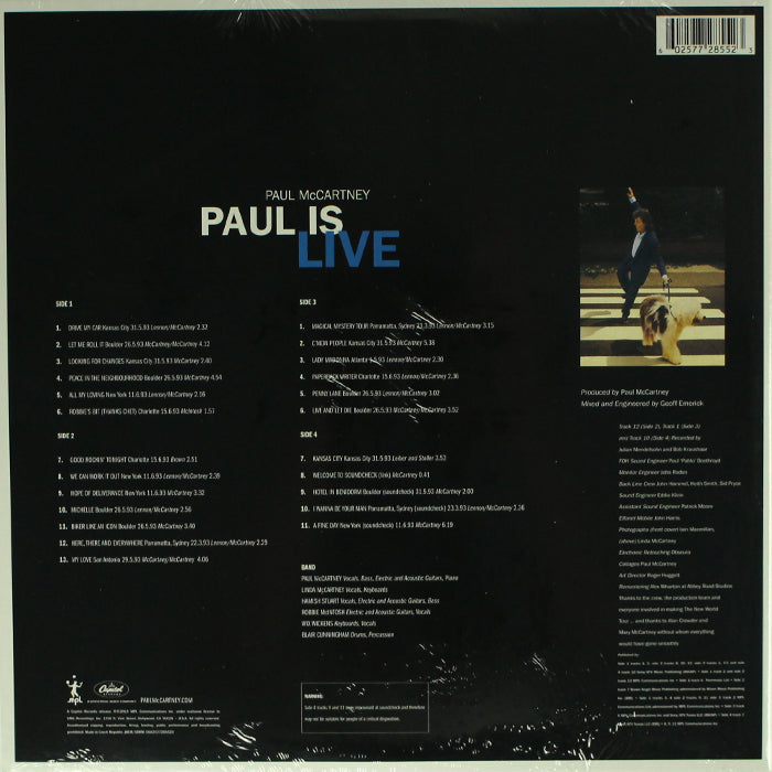 Paul McCartney - Paul is Live 2LP 180g Vinyl Record Album, Vinyl, X-Records