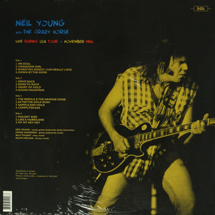 Neil Young & Crazy Horse ‎– Live During USA Tour, 1986 180g Vinyl Record, Vinyl, X-Records