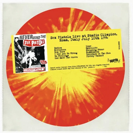 Sex Pistols ‎– Live At Stadio Olimpico Italy 1996 RSD 2019 Limited Colour Vinyl Record, Vinyl, X-Records