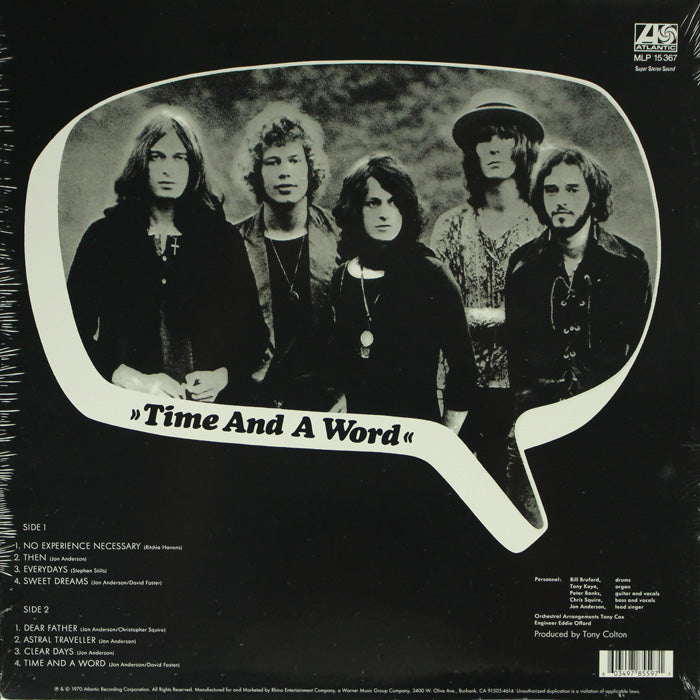 Yes ‎– Time And A Word Limited Edition RSD Vinyl Record, Vinyl, X-Records