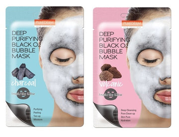 BUBBLE BLACK MASK (CHARCOAL/VOLCANIC)