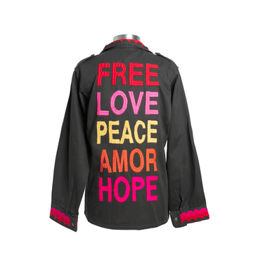 Free Love Peace Military Jacket