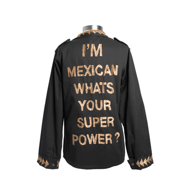 Military Jacket Mexican Super Power Gold