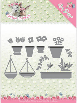 Amy Design - Dies - Spring Is Here - Flowerpots