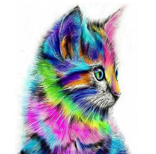 Load image into Gallery viewer, Cute Colorful Cat DIY Painting