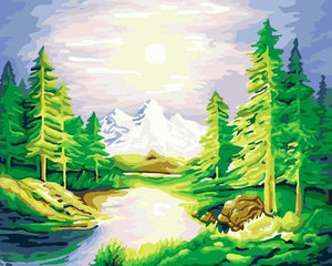 14 Stunning Nature and Places Paintings - Paint by Numbers