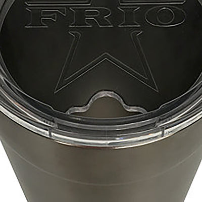Frio 24-7 Cup w/ Bottle Opener and 3M Vinyl Wrap- Black Leather - Frio Ice Chests