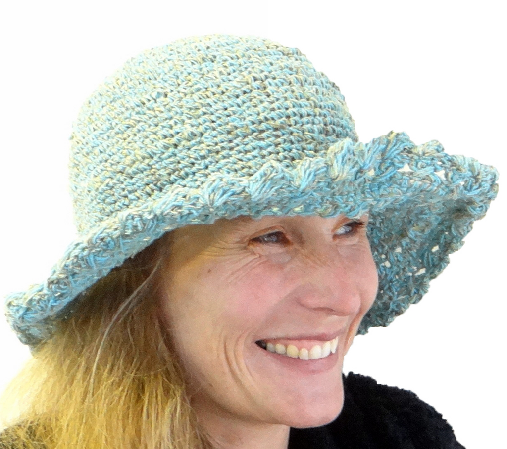 Turquoise Cotton Hat