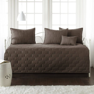Comfortable and Cozy Chocolate Brown Brickyard Daybed and Sham Set by Southshore Fine Linens Main Image