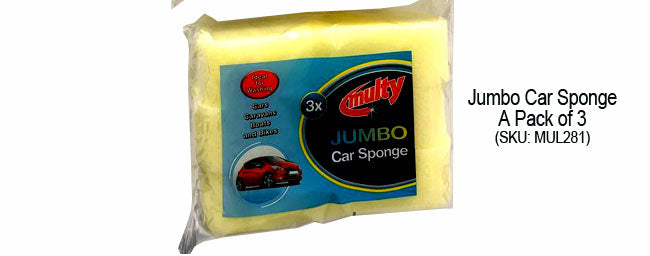 Jumbo Car Sponge A Pack of 3