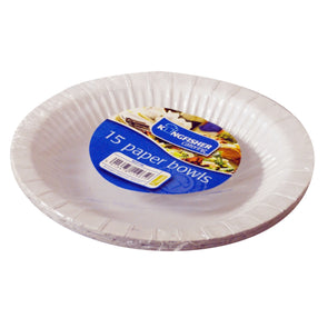 15 Pack Paper Bowls 8 Inch