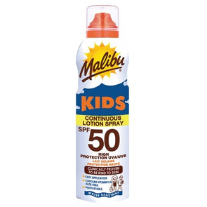 Malibu Kids Sun Protection SPF50 Continuous Lotion Spray 175ml