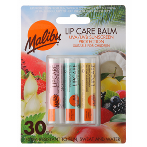 Malibu Lip Care Balm SPF30  Pack of 3
