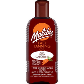 Malibu Fast Tanning Oil With Carotene 200ml