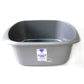 Rectangular Washing up Bowl Silver