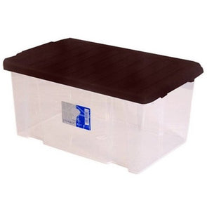 Storage box with black lid midi 5 litre