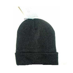 unisex black lined thermal knitted winter hat