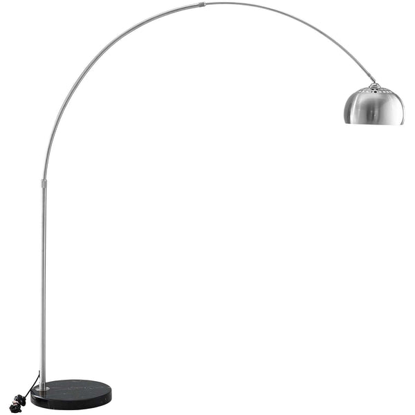 ARMA ROUND MARBLE BASE FLOOR LAMP IN BLACK