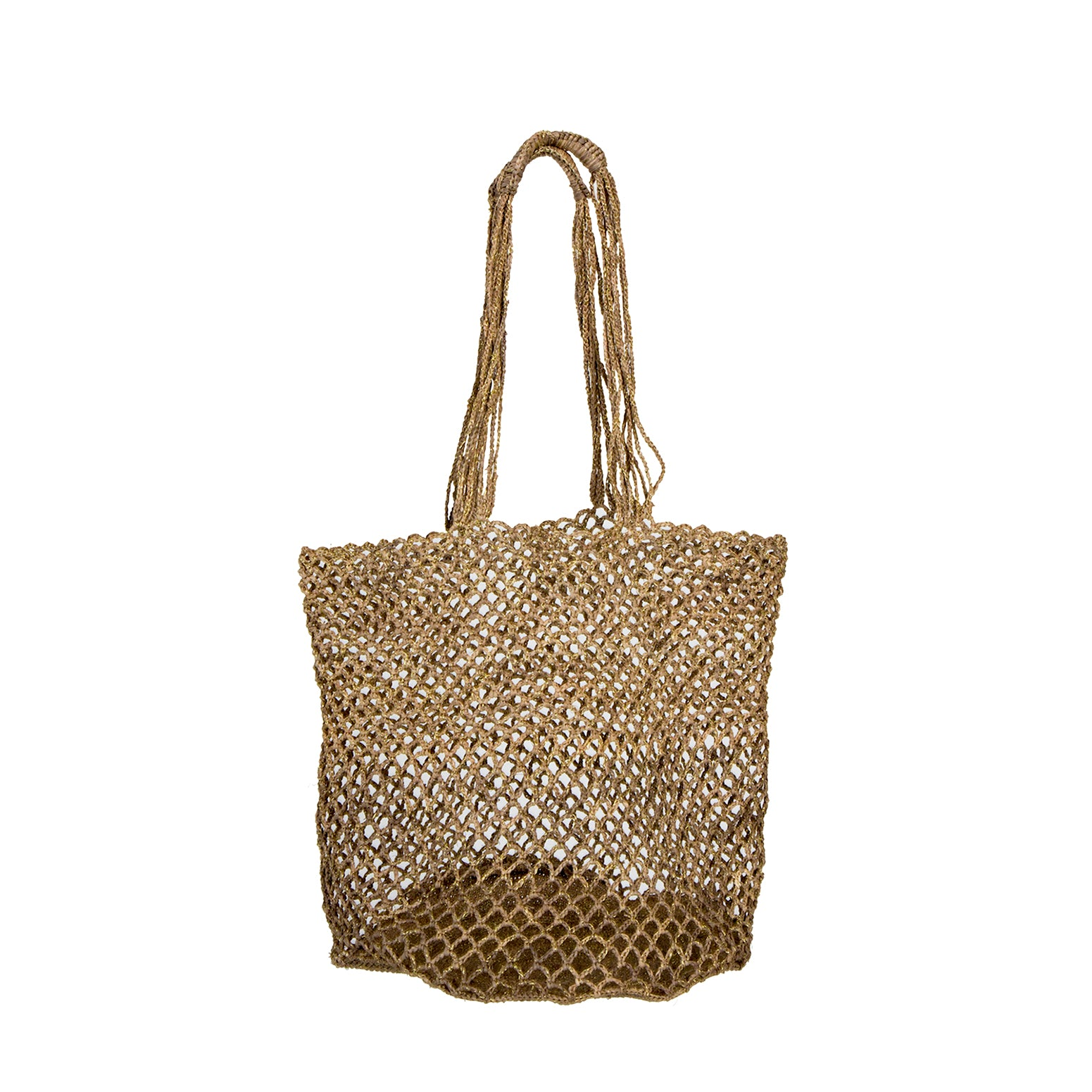Holly Bag - Tea/gold