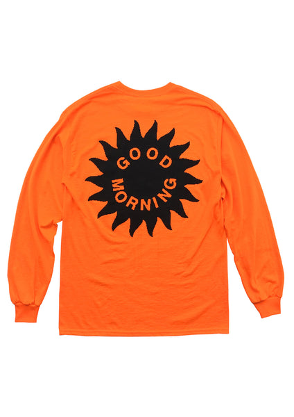 SKY IS THE LIMIT LS TEE - BRIGHT ORANGE
