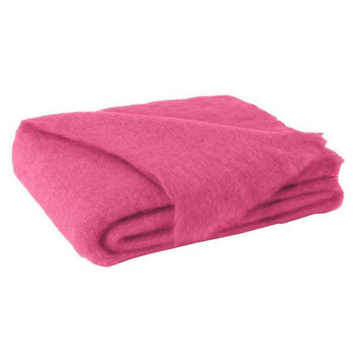 Mohair Throw - Hot Pink
