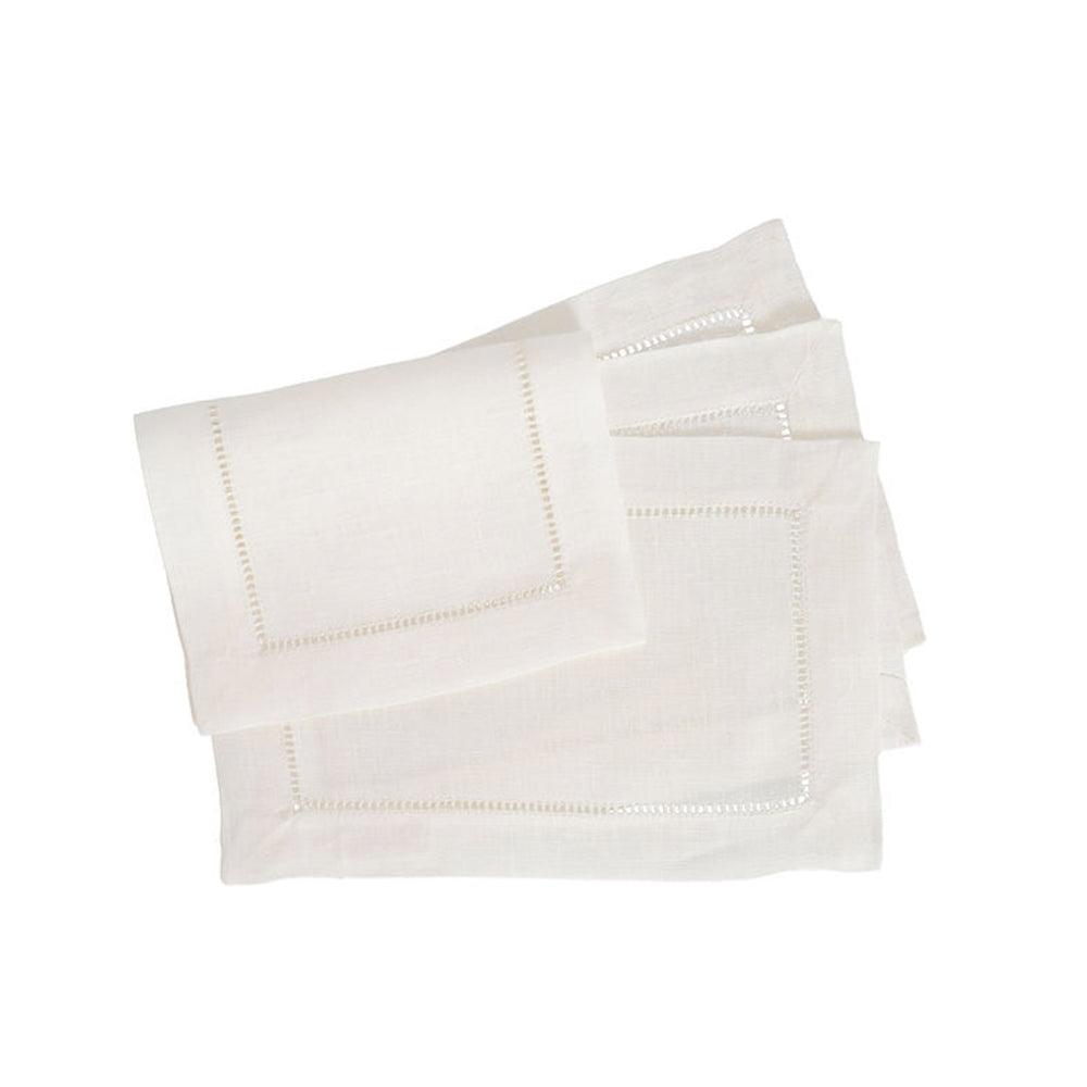 Festival 6x9 Cocktail Napkins - White