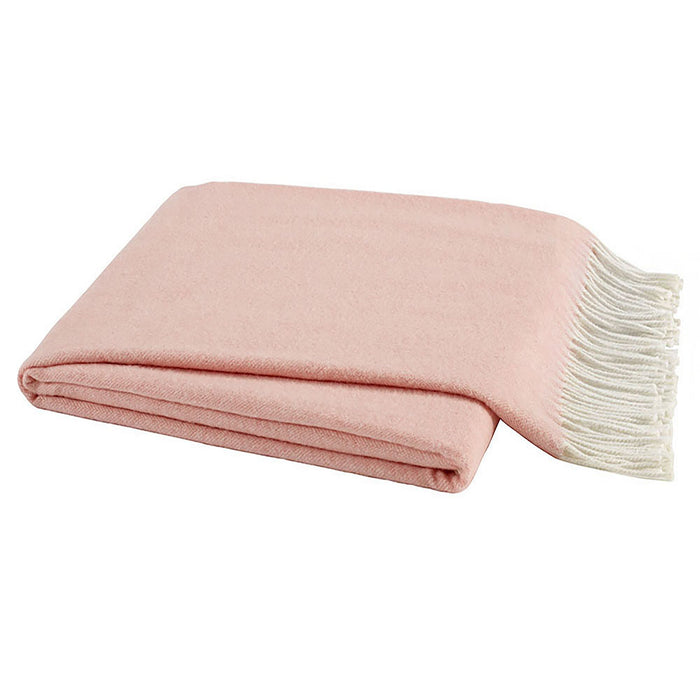 Italian Herringbone Throw - Blush