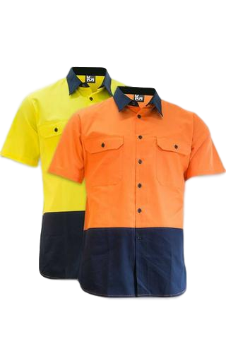 KM M2321N HIVIS S/S SHIRT LIGHTWEIGHT - Workin' Gear