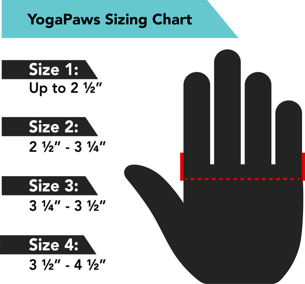 YogaPaws Glove Size Guide