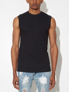Oak Burnout Muscle Tee in Black in Black by Oak OOS